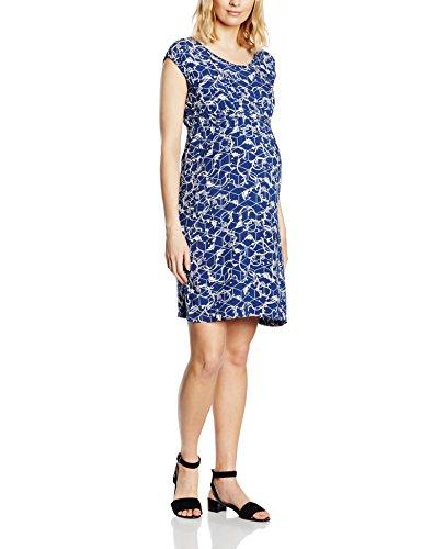 MAMALICIOUS Damen Umstandskleid MLELLEN S/S WOVEN DRESS, Knielang, All over print, Gr. 36 (Herstellergröße: S), Mehrfarbig (Twilight Blue)