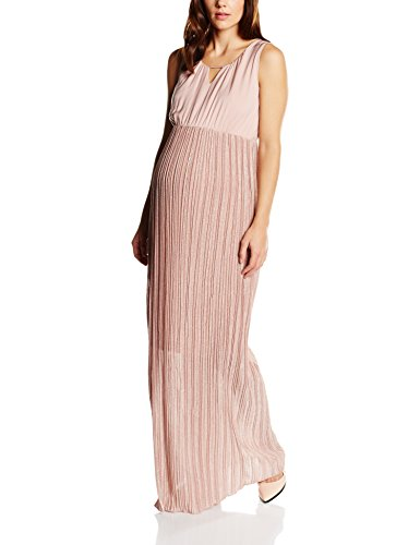 MAMALICIOUS Damen Umstandskleid MLKAYA S/L WOVEN DRESS, Maxi, Gr. 42 (Herstellergröße: XL), Rosa (Misty Rose)