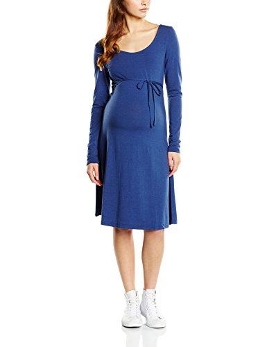 MAMALICIOUS Damen Umstandskleid MLSTINA LS JERSEY SKATER DRESS, Midi, Gr. 36 (Herstellergröße: S), Blau (Twilight Blue)