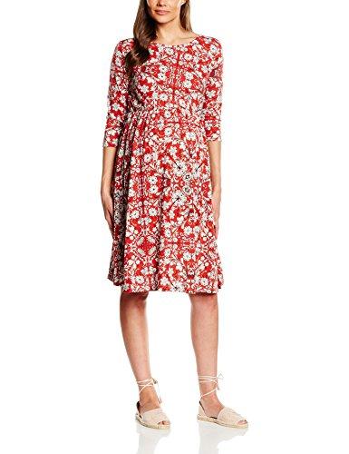 MAMALICIOUS Damen Umstandskleid MLVALENTI 3/4 JERSEY SKATER DRESS, Knielang, All over print, Gr. 38 (Herstellergröße: M), Mehrfarbig (Snow White)