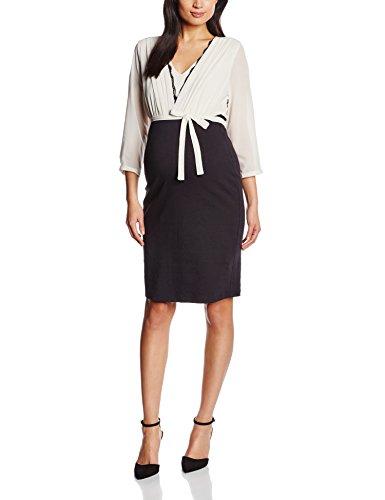MAMALICIOUS Damen Umstandskleid MLVILLA 3/4 MIX DRESS, Midi, Gr. 36 (Herstellergröße: S), Mehrfarbig (Moonbeam)