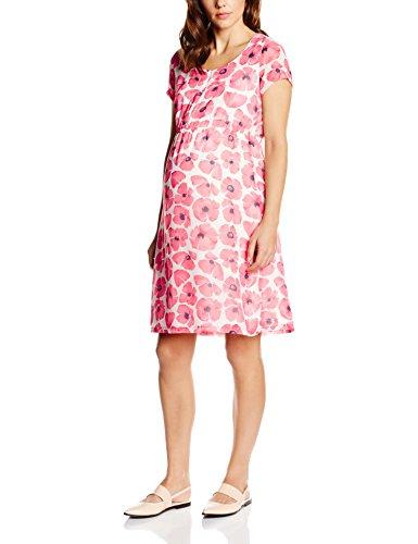 MAMALICIOUS Damen Umstandskleid Mlolivia Lia S/S Woven Dress-NF, Mehrfarbig (Snow White), 40 (Herstellergröße: L)