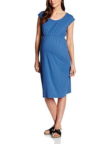 MAMALICIOUS Damen A-Linie Umstandskleid Mlperi Ss Jersey Dress Knielang, 38 (Herstellergröße: M), Blau (True Navy)