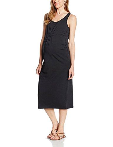 MAMALICIOUS Damen Umstandskleid Sofia Midi Tank Dress-Basic, Schwarz (Black), 42 (Herstellergröße: XL)