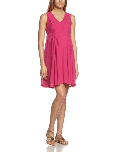 MAMALICIOUS Damen Umstandskleid WEDD SL WOVEN KNEE DRESS, Knielang, Einfarbig, Gr. 36 (Herstellergröße: S), Violett (Festival Fuchsia 19-2434 TCX)