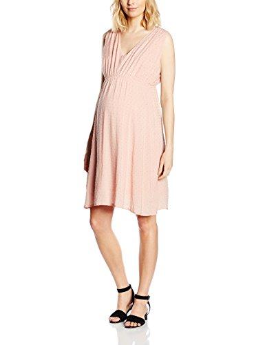 MAMALICIOUS Damen Umstandskleid mit Stillfunktion, Knielang, Einfarbig, Gr. 38 (Herstellergröße: M), Rosa (Misty Rose)
