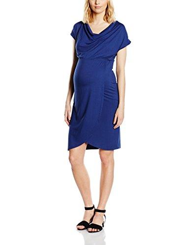 Mamalicious Damen Umstandskleid Gr. 40 (Herstellergröße :L), Blau - Blue (Twilight Blue)