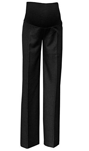 Mija - Elegante Schwangerschaftshose UmstandsHose mit Bauchband 1011A (40 / Schrittlänge 80cm, Schwarz)