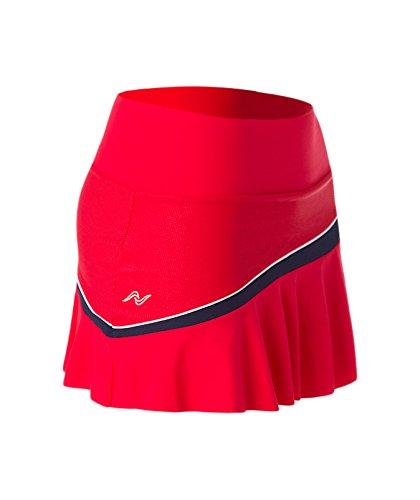 Naffta Tenis Padel Kurzer Damenrock XS Rojo / Marino