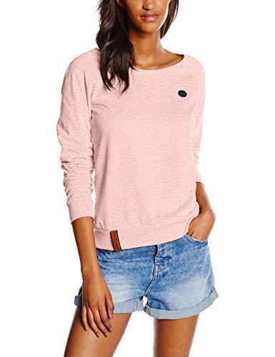 Naketano Damen Sweatshirt Krokettenhorst IV, Rosa (Candy Muschi Melange 557), 38 (Herstellergröße: M)