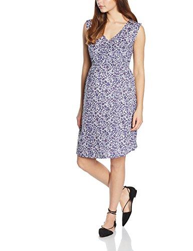 New Look Damen Umstandskleid Mia Waisted, Blau (Blue Patterned), Gr. 40 (12 UK)