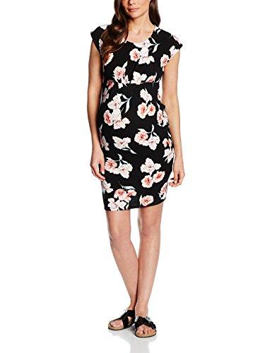 New Look Maternity Damen Umstandskleid, Floral, Schwarz - Black (Black Patterned), Gr. 42 (14 UK)