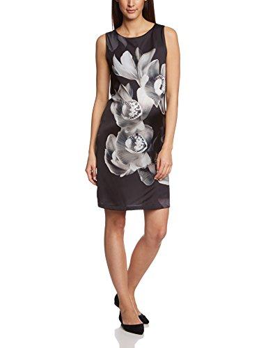 Noppies Damen Etui Umstandskleid Dress woven sl Liza, Knielang, Geblümt, Gr. 40 (Herstellergröße: L), Mehrfarbig (Charcoal C271)