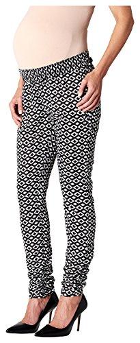 Noppies Damen Relaxed Umstandshose Pants loose Maren AOP, Gr. 42 (Herstellergröße: XL), Mehrfarbig (Black C270)