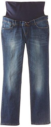 Noppies Damen Straight Leg Umstands Jeans OTB comf Lois PLUS, Gr. 50 (Herstellergröße: 38), Blau (Stone Wash C295)