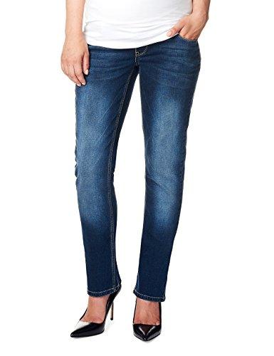 Noppies Damen Straight Leg Umstands Jeans OTB comfort Mena Plus, Gr. 46 (Herstellergröße: 34), Blau (Dark Stone Wash C296)