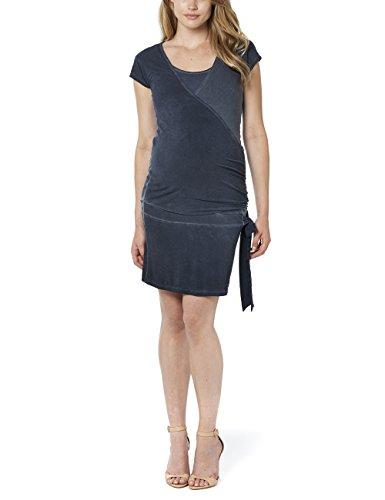 Noppies Damen Tunika Umstandskleid Tunic nurs ss Jody, Mini, Einfarbig, Gr. 36 (Herstellergröße: S), Blau (Dark Blue C165)