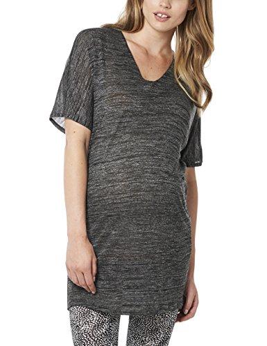 Noppies Damen Tunika Umstandskleid Tunic ss Eve, Mini, Gr. 38 (Herstellergröße: M), Mehrfarbig (Grey Melange C246)