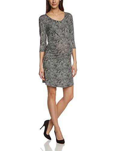 Noppies Damen Umstandskleid Dress 3/4 Ivory AOP, Knielang, Gepunktet, Gr. 44 (Herstellergröße: XXL), Mehrfarbig (Charcoal C271)