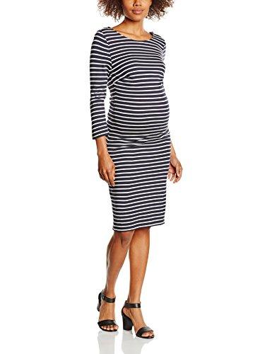 Noppies Damen Umstandskleid Dress 3/4 Slv YD, Mehrfarbig (Dark Blue C165), 36 (Herstellergröße: S)