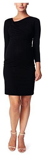 Noppies Damen Umstandskleid Dress 3/4 slv Sandra, Knielang, Einfarbig, Gr. 34 (Herstellergröße: XS), Schwarz (Black C270)