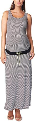 Noppies Damen Umstandskleid Dress long sl Emily YD, Maxi, Gestreift, Gr. 36 (Herstellergröße: S), Mehrfarbig (Black C270)