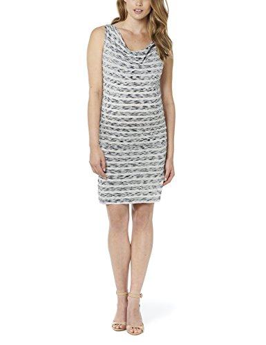 Noppies Damen Umstandskleid Dress sl Hedi str, Knielang, Gestreift, Gr. 38 (Herstellergröße: M), Mehrfarbig (Dark Blue C165)