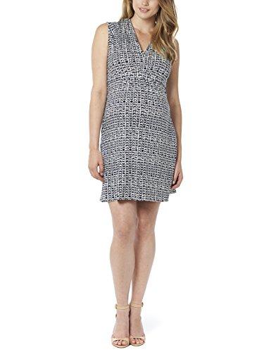 Noppies Damen Umstandskleid Dress sl Katie AOP, Knielang, Gr. 34 (Herstellergröße: XS), Mehrfarbig (Dark Blue C165)