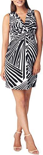 Noppies Damen Umstandskleid Dress sl Yara AOP, Knielang, All over print, Gr. 34 (Herstellergröße: XS), Mehrfarbig (Black C270)