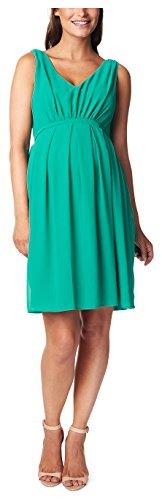 Noppies Damen Umstandskleid Dress woven sl Belem, Knielang, Einfarbig, Gr. 38 (Herstellergröße: M), Grün (Bottle C177)