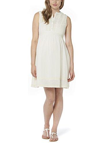 Noppies Damen Umstandskleid Dress woven sl Gentl, Knielang, Einfarbig, Gr. 40 (Herstellergröße: L), Elfenbein (Off White C010)