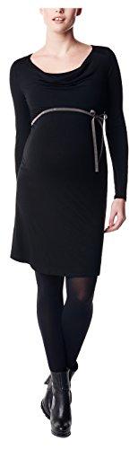 Noppies Damen Umstandskleid Dyanne mit Stillfunktion, Knielang, Gr. 44 (Herstellergröße: XXL), Schwarz (Black C270)