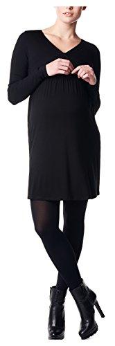 Noppies Damen Umstandskleid Jodi mit Stillfunktion, Knielang, Gr. 38 (Herstellergröße: M), Schwarz (Black C270)
