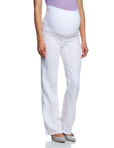 Noppies Damen Umstandsmode Hose 40340, Gr. 42 (XL), Weiß (White C001)