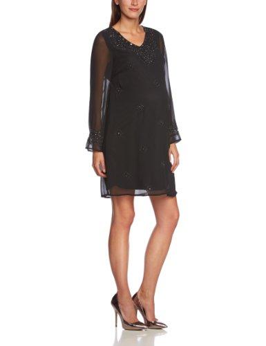 Noppies Damen Umstandsmode Kleid 30781, Gr. 40 (L), Schwarz (black 06)