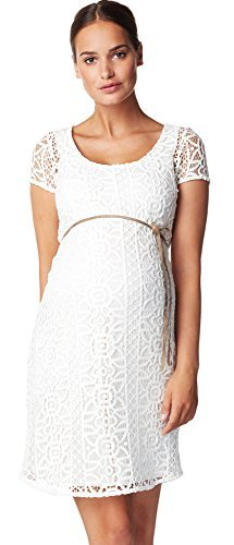 Noppies Damen Umstandsmode Kleid Dress woven ss Elise Hochzeitskleid 60239 (M, creme (off white))