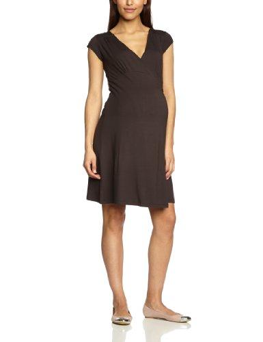 Noppies Dress sh. sleeves wrap Lely 60506 Damen Kleider/ Knielang, Gr. 34 (XS)Braun (dark brown )