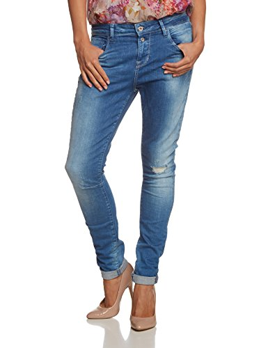 ONLY Damen Boyfriend Jeans onlLISE ANTIFIT RIM3416B DNM NOOS, Gr. W29/L32, Blau (Dark Blue Denim)