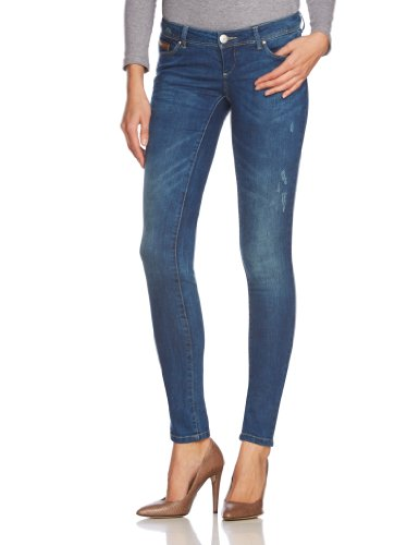 ONLY Damen Hose Niedriger Bund 15073327 SKINNY SUPERLOW CORAL JEANS, Gr. 30/34, Blau (Dark Blue Denim)
