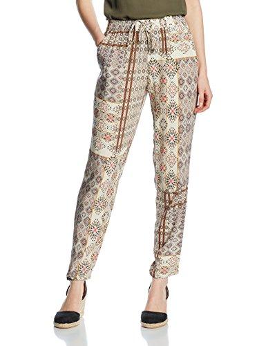 ONLY Damen Hose Onlnova Desert Pant Wvn, Mehrfarbig (Bone White Aop:Desert Deluxe Tiles), 36