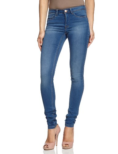 ONLY Damen Jeans 15077789/REG SOFT ULTIMATE PIM203 NOOS Skinny, Slim Fit (Röhre) ,Normaler Bund , Blau (Medium Blue Denim),Gr. W38/L32   (Herstellergröße: M)