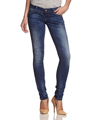 ONLY Damen Jeans Niedriger Bund, 15066578 Skinny Superlow Coral, Gr. 30/32, Blau (DENIM)