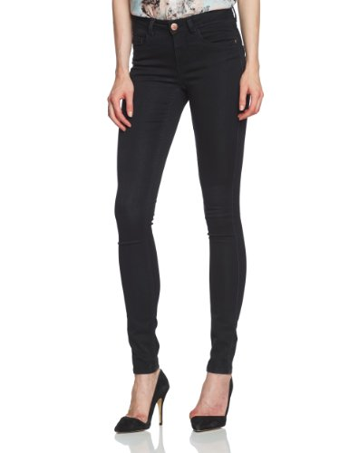 ONLY Damen Jeans Normaler Bund 15077793/SKINNY REG. SOFT ULTIMATE BLACK NOOS, Gr. 42/32 (XL), Schwarz (Black Denim)
