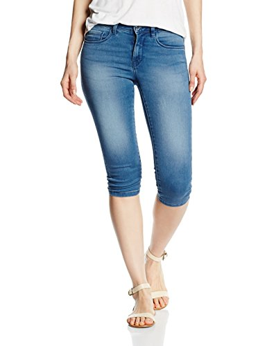 ONLY Damen Jeanshose 15110144, Blau (Medium Blue Denim), 38 (Herstellergröße: M)