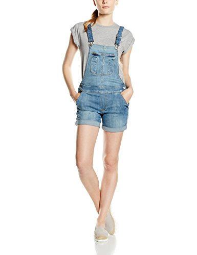 ONLY Damen Jeanshose Onlnew Kim Witty Dnm OVERALLSHORTCRE1043, Blau (Light Blue Denim), 36