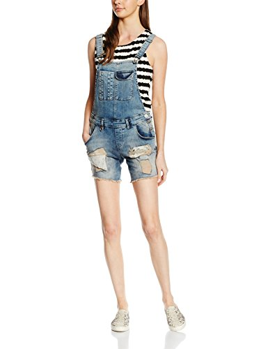 ONLY Damen Jeanshose Onlnew Kim Witty Dnmoverallshorts RE1052, Blau (Medium Blue Denim), 36