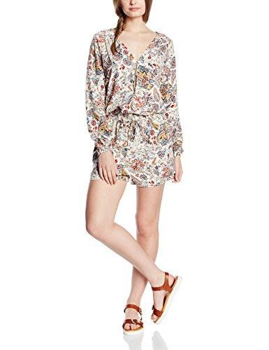 ONLY Damen Jumpsuits Onlnova Bright V-Neck Playsuit, Mehrfarbig (Whitecap Gray Aop:Bright Autumn Flower), 36