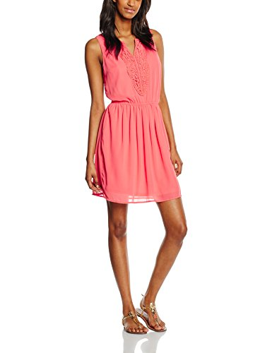 ONLY Damen Kleid Onlcarol S/L Short Dress, Rosa (Rose of Sharon), 38