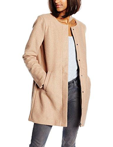 ONLY Damen Mantel 15109087, Beige (Camel), 36 (Herstellergröße: S)