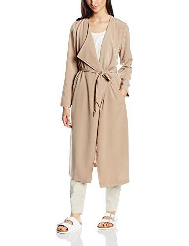 ONLY Damen Mantel Onlnew Lizzy Long Coat Otw, Braun (Silver Mink), 40 (Herstellergröße: L)